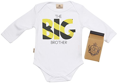 Sr - The Big Brother Baby Grow 100% Organic In Milk Carton 12-18M White front-10559