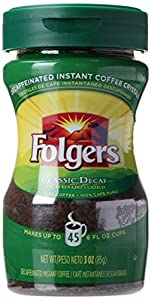 Folger Instant Decaf Coffee, 12 Count
