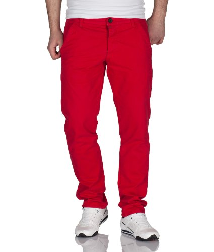 Jack & Jones Herren Chino Hose by Jack and Jones Jeans H/M 2013 Star MOD 3951 rot D.G