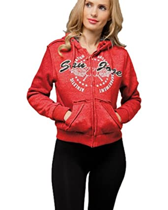 G2 Chic Women's San Jose Lined Hoodie Sweater(TOP-SWT,DRD-S)