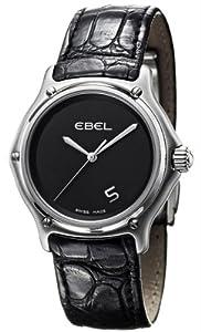 Ebel 1911 Stainless Steel Mens Strap Watch Black Dial Quartz 9187241/55535136