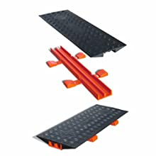 "Cross-Link CL2X150-5GD-B Polyurethane Heavy Duty Protector Bridge for Guard Dog 5 Channel Cable Protectors, Black, 36"" Length, 13"" Width, 2"" Height"