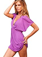V-Shape Cover Up Beach Dress - Small/Medium - Purple