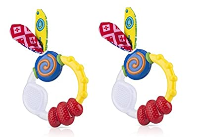 Nuby Wacky Teething Ring 2 Pack by Nuby