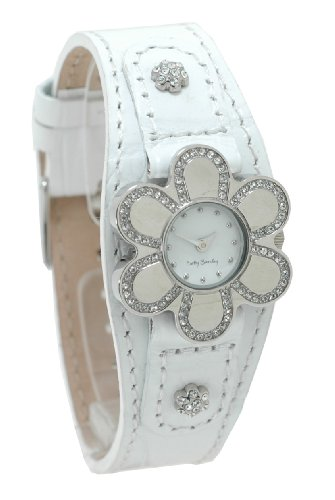 Betty Barclay Ladies White Leather Strap Watch With White Dial