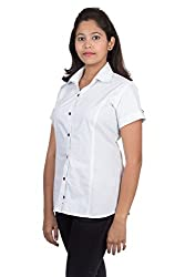 Juee Women's Printed Half Sleeve Casual Shirt (JU105SY7HFWHT) (Large)