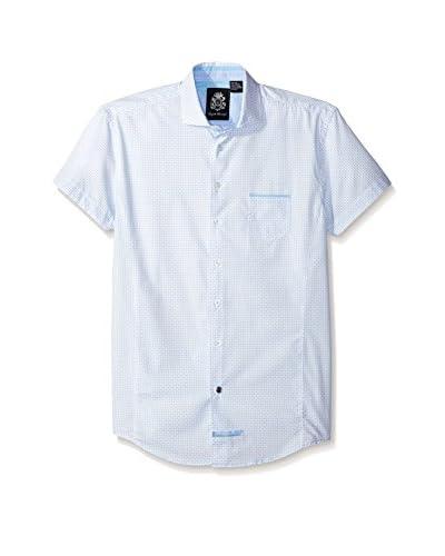 English Laundry Men's Diamond Print Short Sleeve Sport Shirt