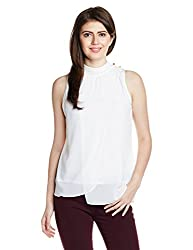 Mineral Women's Body Blouse Shirt (PU16A-666 WT_Ecru_Small)