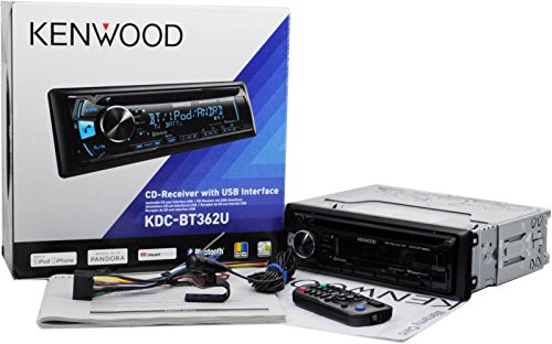 Kenwood KDC-BT362U In Dash Car CD Player with Built In Bluetooth, USB and Aux Inputs KDCBT362U