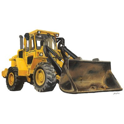 "Oopsy Daisy Classic Yellow Bulldozer Peel and Place, Yellow, 54"" x 30"""