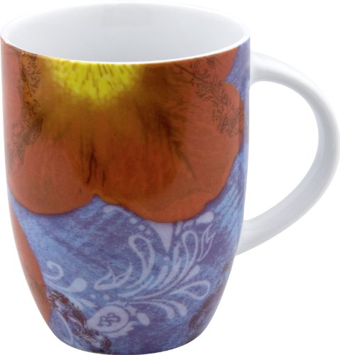 Waechtersbach Petal Power Mugs, Petunia Design, Set Of 4