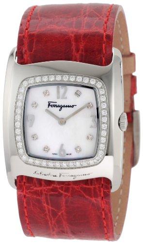 Ferragamo Women's F51SBQ9191i S800 Vara White Mother-Of-Pearl Diamond Watch
