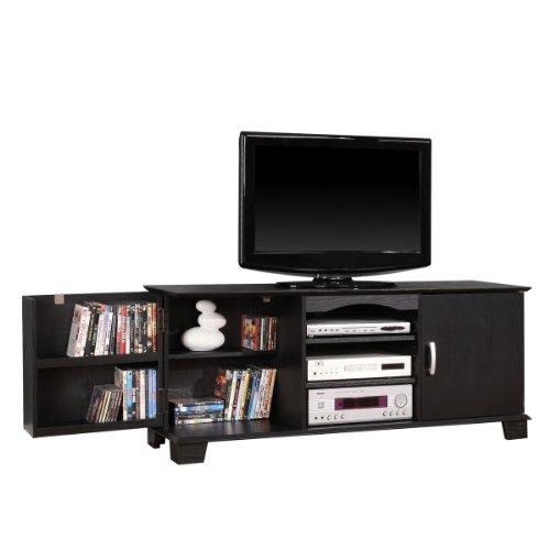 Cheap 60″ Wood TV/Media Stand Console , Black (B008DZ1QEI)