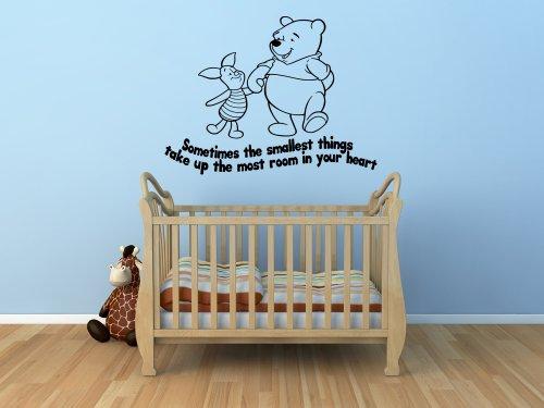 Winnie The Pooh Kids Nursery Wall Sticker Decal 10 (Black) front-706211