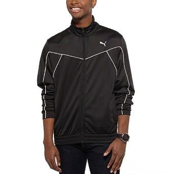 PUMA Men's Chevron Jacket, Black/White, Medium