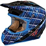 "FLY Racing Formula MX Helmet ""MAD PLAID"" (XX, Blue)"