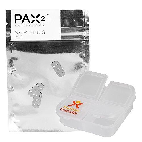 PAX 2 Screen Set (3 Pack) & FREE HumanFriendly Pill Case