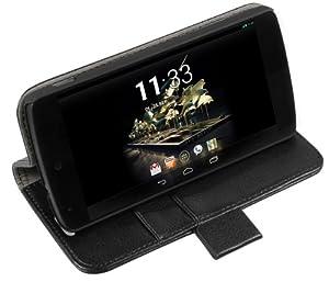 mumbi Tasche Bookstyle für Google Nexus 5 Hülle in schwarz