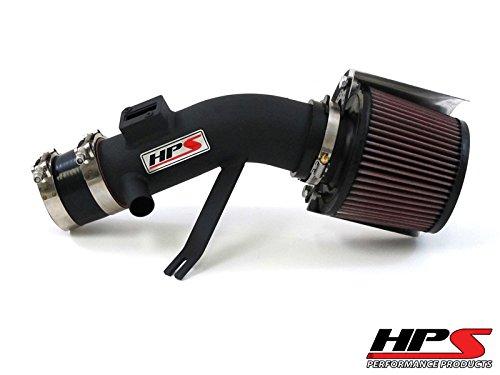 07-12 Nissan Altima V6 3.5L HPS Shortram Air Intake Kit + K&N Air Filter Black 08 Short Ram