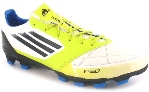 New Mens/Gents White/Green Adidas Performance Football Boots/Trainers. - Lime/White - UK 6-11