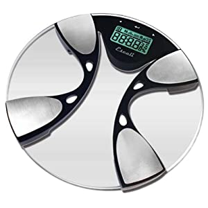 Escali High-Capacity Bathroom Scale with Body Fat/Body Water Monitoring (440lb / 200kg)