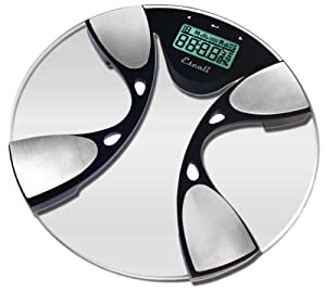 Escali BFBW200 Glass Body Fat/ Body Water Digital Bathroom Scale, 440lb/200 Kg