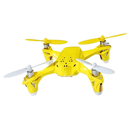 Hubsan H108 2.4G 4CH RC Quadcopter YELLOW includes Bonus Black Rubber