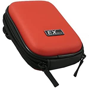 Ex-Pro® Red Hard Clam Shock proof Digital Camera Case Bag CR251A for Nikon Coolpix L2, L3, L4, L6, L10, L11, L12, L14, L15, L16, L17, L18, L19, L20, L21, L22, L23, L24, P3, P4, S1, S2, S3, S4, S5, S7, S9, S50, S50c, S51, S51c, S52, S52C, S60, S70, S80, S100, S200, S200, S203, S210, S220, S225, S230, S230, S500, S510, S520, S550, S560, S570, S600, S610, S620, S630, S640, S700, S710, S1000, S2500,