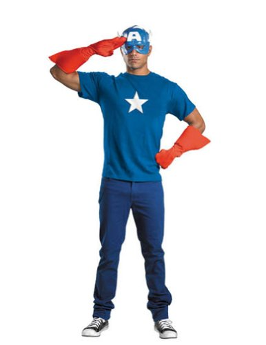 Adult-Costume Captain America Kit Adult Halloween Costume - Most Adults