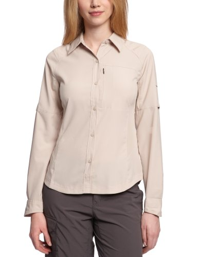 Columbia Women's Silver Ridge Long Sleeve Shirt, Medium, Fossil