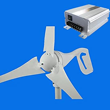 GTSUN 600W DC 12V vento gerador de turbina 3 Blades Fibra de Carbono Com Vento Solar Híbrido Controlador de Carga, New