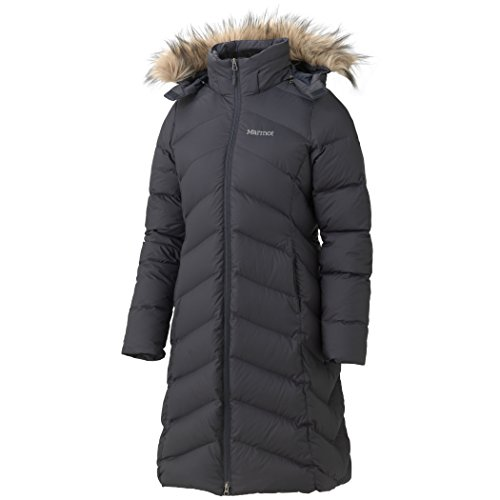 Marmot Kinder Winterjacke Women'Montreaux, Edelstahl, Onyx, 2X, groß
