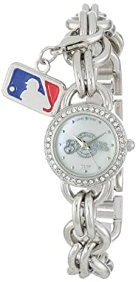 "Game Time Women's MLB-CHM-MIL ""Charm"" Watch - Milwaukee Brewers"