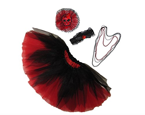 Southern Wrag Company ADULTS SHREDDED Skull Tutu Set Waist 18-36 Length 16