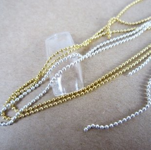 Set of 2  Silver   Gold Beads Stone Chain Nail Art Decoration by Unknown a1ba42ebe