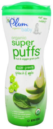 Plum Organics Super Puffs Greens (8 x 1.5 Oz)