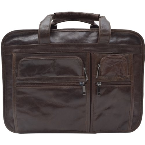 1ST 2012 High Quality HANDMADE Leather Men's Business Tote Messenger Bag Laptop Bags#7093Q