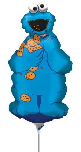 Cookie Monster Full Body Mini Shape Balloon (1 ct) (1 per package)