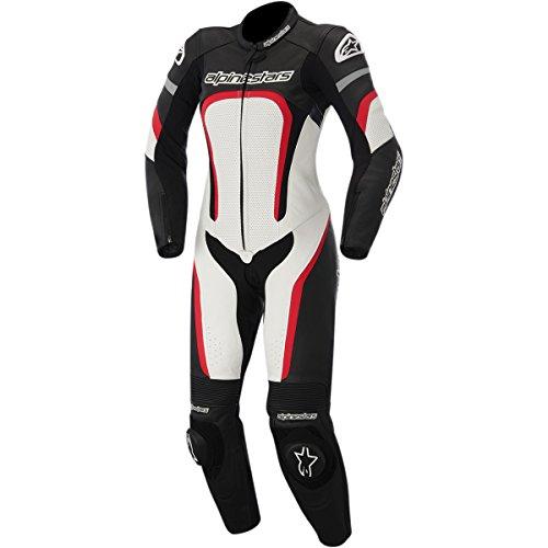 Alpinestars Motegi Women's 1-Piece Street Motorcycle Race Suits - Black/White/Red / 38