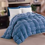 Natural Comfort Allergy-Shield s TM Luxurious Twin Down Alternative Comforter Blue
