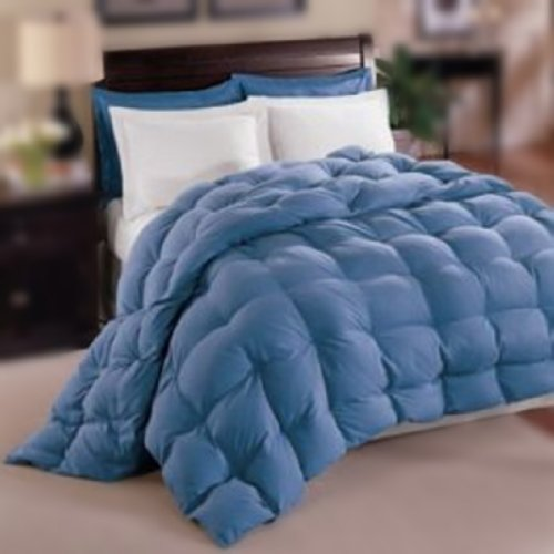 Natural Comfort Allergy-Shield S Tm Luxurious Queen Down Alternative Comforter, Blue front-879197