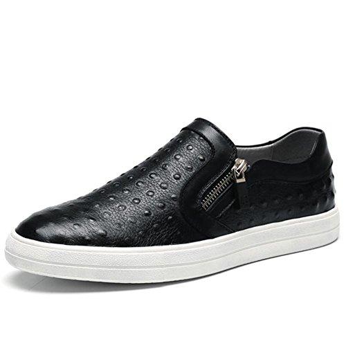 Inverno autunno moda vera pelle personalità Casual in pelle scarpe , black , 38