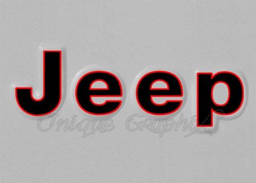 Jeep Yj Cj 2 Color Vinyl Fender Side Decals 1 Pair By Unique Graphix