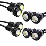 HOTSYSTEM Eagle Eye Led Light Bulbs 9W DC12V 18mm for Off-Road Car ATV Camper Trunk Motorcycle Day Time DRL License Plate Turn Signal Stop Parking Tail Reverse Fog Trunk Backup Light (White,8-Pack) (Color: 9w-black case, Tamaño: 8-pack)