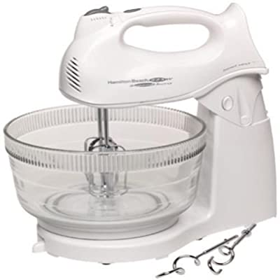 New shop Hamilton Beach Power Deluxe Hand Stand Mixer Brand Kitchen White Mixing Baking