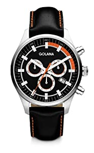 Golana Terra Chrono Men's Quartz Watch with Multicolour Dial Chronograph Display and Multicolour Leather Strap TE400-2