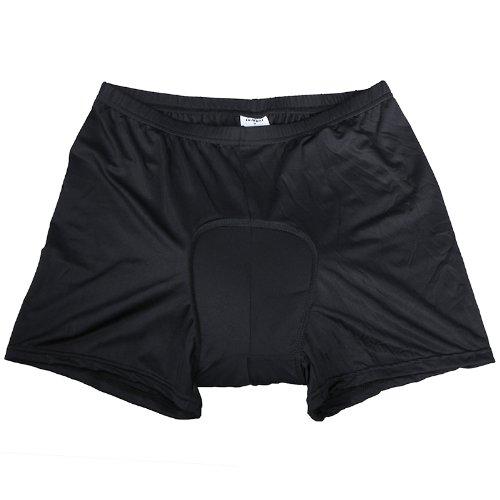 Andoer Uomo Nylon +Spandex Traspirante Ciclismo Imbottito Shorts Biancheria Intima Mutande 3D Gel Imbottito Bike Pantaloni Corti (M/L/XL/XXL/3XL Opzionale) (L)
