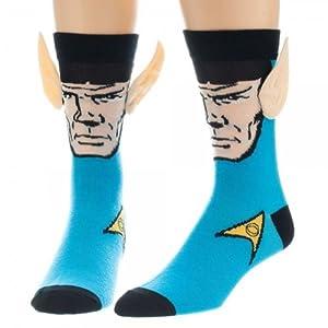 Star Trek Mr. Spock With Ears Character Blue Costume Socks