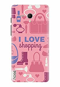 Noise I Love Shopping - Pink Printed Cover for Panasonic P65 Flash