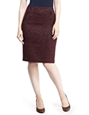 M&S Collection New Wool Blend Luxury Chevron Skirt